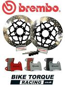 Yamaha Yzf600 R6 2005-2016 Brembo 320mm Upgrade Front Brake Kit + Rc Track Pads