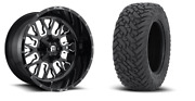 22x10 D611 Fuel Stroke Wheel And Tire Package 33 Fuel Mt 5x127 Jeep Wrangler Jl