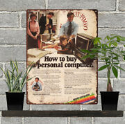 1979 Apple How To Buy A Personal Computer Metal Sign Repro 9x12 60483