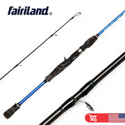 Us 6'/6'6/7' Casting Rod Carbon Fiber Cork Hand Fishing Pole W/ A Spare Tip Top