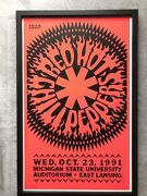 Red Hot Chili Peppers Original Concert Poster Gary Grimshaw Mint Rare