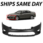 New Primered Front Bumper Cover Fascia For 2010 2011 2012 Ford Fusion 10 11 12