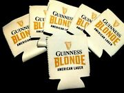 Guinness Can Beer Koozies- Black/gold White Set Of 24 New
