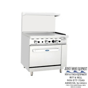 Atosa Ato-36g 36 Gas Range - 36 Griddle W/ One 26and039 Wide Oven