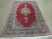 4and039x7and039 Antique Fine Hand Made Indian Manchester Wool Rug Carpet Pomegranate