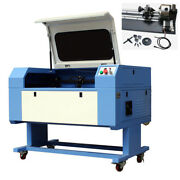 60w Co2 Usb Laser Engraver Engraving And Cutting Machine 900 600mm With Rotary