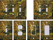 Circuit Board Pattern Texture - Light Switch Covers Home Decor Outlet