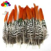 10-100pcs Eco Friendly Pheasant Red Tip Feathers 5-35cm/2-14inch For Decorations