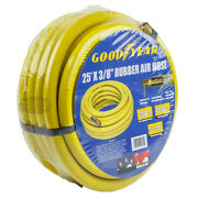 Goodyear Rubber Air Hose 25and039 Ft. X 3/8 In. 250 Psi Air Compressor Hose 12182