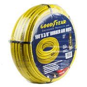 Goodyear Rubber Air Hose 100and039 Ft. X 3/8 In. 250 Psi Air Compressor Hose 12752