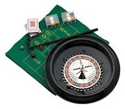 12 Plastic Home Roulette Casino Wheel Game Set Kit With Felt Layout Roulete