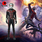 Dfym Ant Man And The Wasp Cosplay Antman Costume Men Leather Jumpsuit Halloween