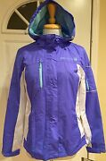 Free Country Live In It Rain Jacket Water Resistant Lightweight Hood S New
