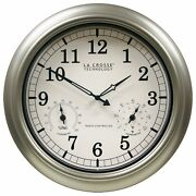 Outdoor Thermometer Clock Large Wall Weather Humidity Hygrometer Atomic Garden