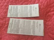 Detroit Tigers 1968 World Series Unused Pair Of Tickets In Perfect Shape.