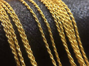 100 Pure 18k Yellow Gold Necklace Au750 Twisted Rope Chain 45cm 750c007-18