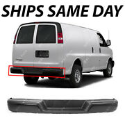 New Primered Steel Rear Bumper Assembly For 1996-2017 Chevy Express And Gmc Savana