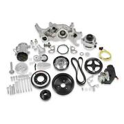 Holley Engine Accesory Kit 20-180p Premium Black Mid-mount For Chevy Ls-series