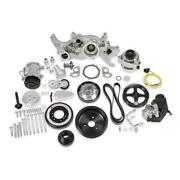 Holley Engine Accesory Kit 20-190p Premium Black Mid-mount For Chevy Ls7