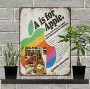 1979 A Is For Apple 2 Personal Computer Metal Sign Repro 9x12 60485