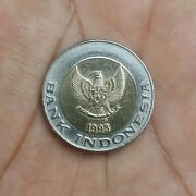 Original Old Coins Indonesia 1000 Rupiah 1993 Old Design Palm Tree Coins Rare