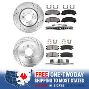 Front+rear Brake Rotors And Ceramic Pads For Chevy Impala Monte Carlo Ls Lt Ltz Ss