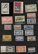 Flugpost Canada Semi-official Air Stamps Collection-all Original Gum Mnh/mvlh