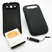 4 Accessory 7500mah Extended Battery Cover Tpu Case For Samsung Galaxy S3 I9300