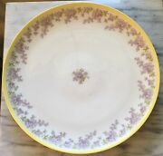 Large 12.5 Tandv 1907-1919 Limoges France Depose Lilacs And Yellow Charger