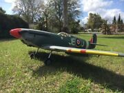 Ems Spitfire Giant Scale 89 Wingspan Q75 Engine Green Camo A1 Condition