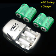 1pc Cr2 3v Charger + 4pc Ultrafire 800ma Li-ion Rechargeable Battery Batteries
