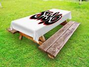 Name Outdoor Picnic Tablecloth In 3 Sizes Decorative Washable Waterproof