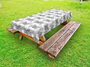 Motorcycle Outdoor Picnic Tablecloth In 3 Sizes Decorative Washable Waterproof