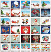 Santa Curtains 2 Panel Set For Home Decor 5 Sizes Available Window Drapes