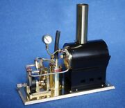 Steam Engine And Boiler Display Stand Model Marine Saito V2 And Ob-1 New From Japan