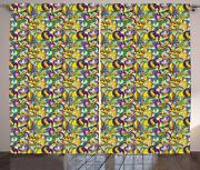 New Orleans Curtains 2 Panel Set For Decor 5 Sizes Available Window Drapes