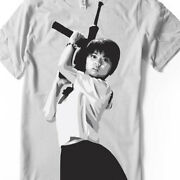 Sailor Suit And Machine Gun T Shirt School Girl Hand Airbrushed With Stencils