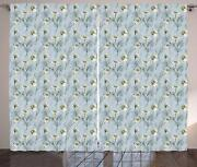 Daisy Curtains 2 Panel Set For Decor 5 Sizes Available Window Drapes