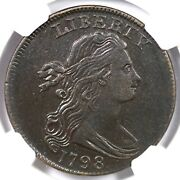 1798 S-158 R-4 Ngc Xf Details Small 8 Draped Bust Large Cent Coin 1c