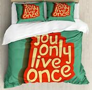 Yolo Duvet Cover Set Twin Queen King Sizes With Pillow Shams Bedding