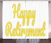 Retirement Party Curtains 2 Panel Set For Decor 5 Sizes Available Window Drapes