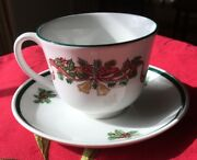 Johnson Brothers Victorian Christmas Cup And Saucer Set Christmas Dinnerware