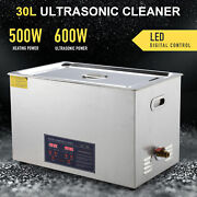 30l Digital Ultrasonic Jewelry Cleaning Cleaner Machine With Heater, Timer