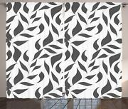 Greyscale Curtains 2 Panel Set For Decor 5 Sizes Available Window Drapes