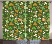 St. Patrickand039s Day Curtains 2 Panel Set Decor 5 Sizes Available Window Drapes