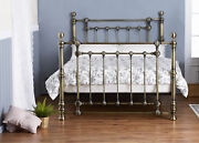 Metal Bed Frame Brass Double King Antique Victorian Style Eliza