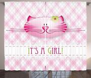 Gender Reveal Curtains 2 Panel Set Decor 5 Sizes Available Window Drapes