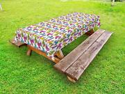 Teen Room Outdoor Picnic Tablecloth In 3 Sizes Washable Waterproof Ambesonne