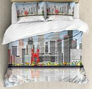Detroit Duvet Cover Set Twin Queen King Sizes With Pillow Shams