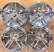 19 20 Corvette Style Replacement Rims Wheels Staggered Set Of 4 Chrome 5634
